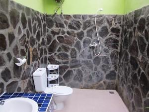 Open roof bathroom